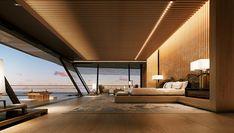 The Cool Hunter -95 ft long,hosts 34 guests,48 crewmen,6 decks,2 swim pools...the yacht,Symmetry by Sander J. Sinot