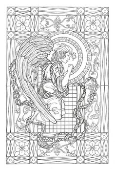 Angel coloring page Angels Coloring Pages for Adults Pinterest