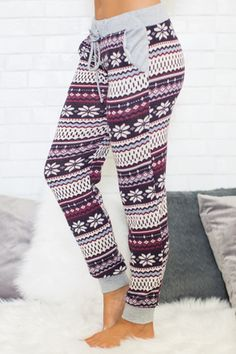 Waiting For Winter Printed Lounge Pants