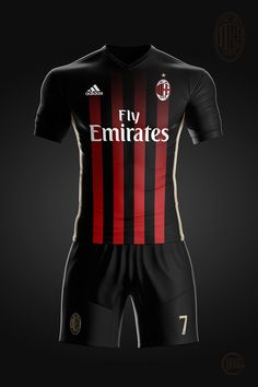 Home jersey concept for my favourite soccer team Soccer Kits, Football Kits, Football Jerseys, Ac Milan Kit, Camisa Adidas, Football Dress, Polo Shirt Design, Soccer Uniforms, Club Shirts