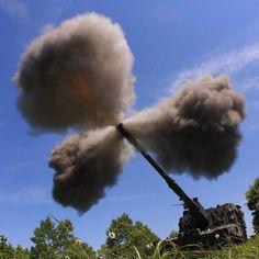 「重鎮の三つ葉」 第2特科連隊実射訓練 #陸上自衛隊 #自衛隊 #三つ葉 #射撃 #りゅう弾砲 #155mm #99式自走155mmりゅう弾砲 #陸自 #jgsdf #jsdf #gsdf