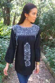 Boho style hand embroidered Mexican Dresses | The LunaMia Collection