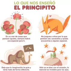 Mensaje de El Principito #LittlePrince #ElPrincipito #infografia Wall Quotes, Book Quotes, Words Quotes, Little Prince Quotes, The Little Prince, The Petit Prince, Happy Day Quotes, Spiritual Words, Life Rules