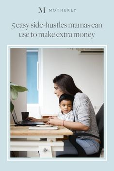 Although you'll have your hands full taking care of kids, there are some side hustle options to consider that give you the flexibility to set your own hours. Yes, you can even make money during those middle-of-the-night feedings. Here's how. Mom Hacks, Working Moms, Career Advice, Extra Money, Kids And Parenting, Hustle, Flexibility, How To Make Money, Middle