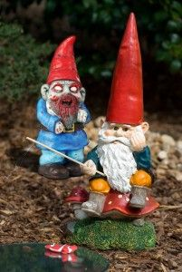 Our Zombie Gnome Will Really Stand Out From Your Normal Gnomes.  Be Careful Though This Gnome Is Slightly More Aggressive, Shall We Say.  Only $21.10  Check It Out   http://www.onlinesculptureshop.com/zombie-gnome/  #Gnome #Sculpture #Zombie #Zombie Gnome #Zombie Sculpture