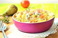 Receta de pasta con gorgonzola y pera   EROSKI CONSUMER