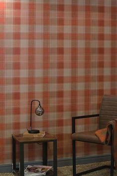 #cartadaparati #decorazioneparete #cartadaparatiaranzione Orange Wallpaper, Geometric Wallpaper, Pattern Wallpaper, Flower Power, Orange Tapete, Entryway, Interior Design, Furniture, Home Decor