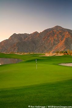 The golf course at Silver Rock Resort is an Arnold Palmer Classic Course, La Quinta, near Palm Springs, California. (hometown course)