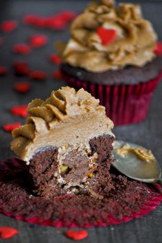 cupcakes ferrero rocher san valentin