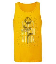 Beauty Within Tank Top - Bright Yellow