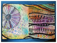 tons of pages to inspire Art Journaling