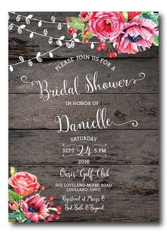 Boda ducha invitación plantilla imprimible por PoshPaperOccasion