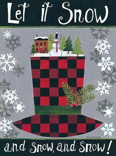 Let it Snow, snowman hat - Bernadette Deming