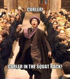 Classic gym humor! Haha The squat rack is for squatting!