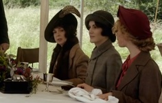 """Downton Abbey Fashion: """"Ladies' lunch"""" in the Scottish Highlands"""