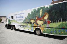 Le service des bibliobus du réseau public de la lecture en Province de Hainaut