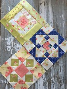 {Sisters and Quilters}: Moda Sampler Shuffle Quilt Blocks 13-15