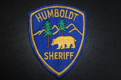Humboldt County Sheriff Patch, California (Vintage Pre-2012 Issue)