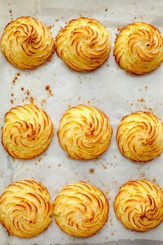 baked parmesan duchess potatoes