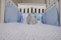 Tom & Bella Cot Duvet Cover And Baby Pillowcase Set - Blue Spots: