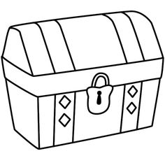 treasure chest coloring page printable  how to draw  treasure