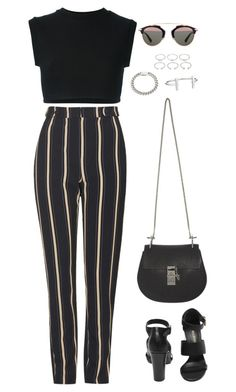 """Untitled #966"" by romane-inspiration ❤ liked on Polyvore featuring Topshop, adidas Originals, Christian Dior, Mulberry, Chloé, Yves Saint Laurent, French Connection and Forever 21"