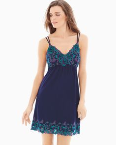 Invite romance with our Sensuous Lace Floral sleep chemise. Soma   Sleepwear