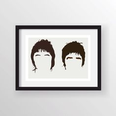 The Gallaghers Oasis (Liam & Noel) - Minimalist Heads Poster Print, Minimal Wall Art - Limited Edition of 250 by Posteritty on Etsy https://www.etsy.com/listing/213354219/the-gallaghers-oasis-liam-noel