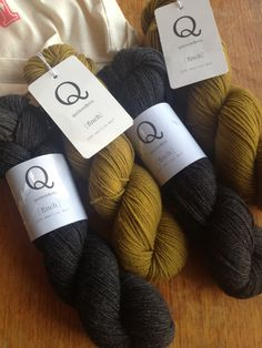 Quince & Co Finch, 100% American Wool Colour's Honey and Sabine