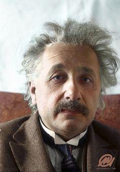 Albert Einstein was born on this day, : ColorizedHistory Colorized Photos, Albert Einstein Quotes, Albert Einstein Pictures, E Mc2, Physicist, Anne Frank, Portfolio, Famous Faces, Historical Photos