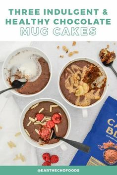 Because one Cacao Bliss mug cake is just not enough, we've come up with THREE delicious ways to add a fun spin to your favorite healthy treat. Which one will you try first? Grab the recipes now.... Healthy Chocolate Mug Cake, Mexican Hot Chocolate, Cake Recipes, Snack Recipes, Caking It Up, Base Foods, Healthy Treats, Bliss, Stuffed Peppers