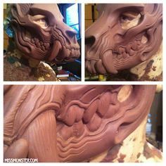 skullbeast mask WIP by missmonster.deviantart.com on @DeviantArt