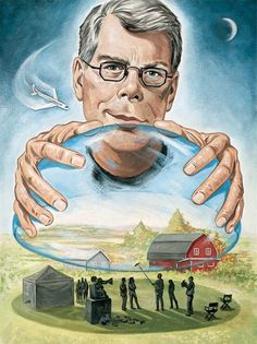 Everything You Need to Know About Stephen King - The King of Horror Stephen King Quotes, Stephen King Movies, Castle Rock Stephen King, Steven King, Horror Icons, King Art, Arte Horror, Entertainment Weekly, Portrait Illustration