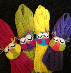 Crochet Owl Scarf. $18.00, via Etsy.