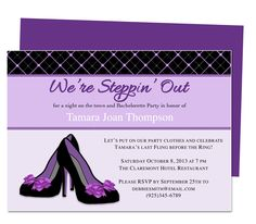 Printable DIY Bachelorette Party Invitation Templates : Heels Bachelorette Party Invitation Template. Download, edit, print. Compatible with Microsoft Word, Publisher, OpenOffice, Apple iWork Pages.