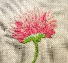 UnBroken Thread - Another pink flower.....(sew very pretty!)....