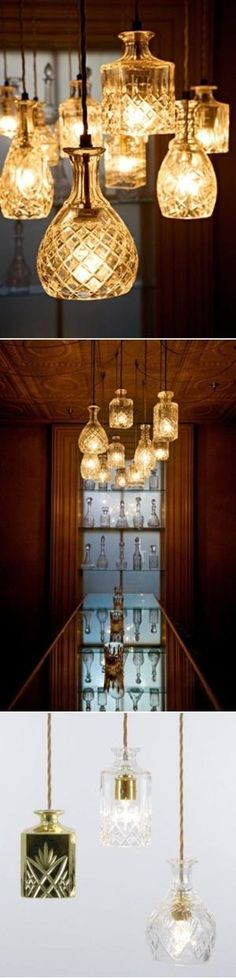 DIY Crystal Decanters As Pendant Lights by albine