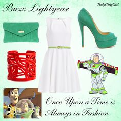 """Disney Style: Buzz Lightyear"" by trulygirlygirl ❤ liked on Polyvore"