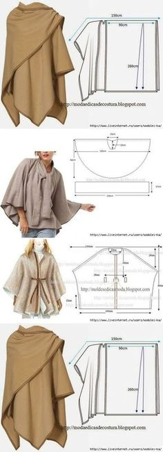 54 Ideas Sewing Dress Patterns Dressmaking For 2019 Sewing Patterns Free, Free Sewing, Clothing Patterns, Dress Patterns, Free Pattern, Fashion Patterns, Poncho Patterns, Poncho Pattern Sewing, Knitting Patterns