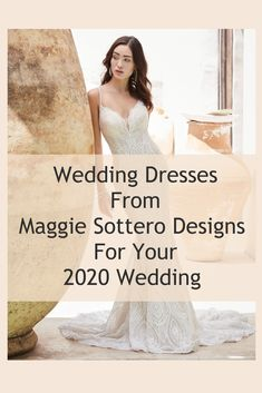 Wedding Dresses From Maggie Sottero Designs For Your 2020 Wedding ⋆ Ruffled Top Wedding Dresses, Wedding Dress Trends, Perfect Wedding Dress, Boho Wedding Dress, Wedding Gowns, Vintage Inspired Dresses, Boho Bride, Lace Bodice, Budget Wedding