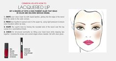 Fall Trend: Crimson Velvets Lacquered Lip HOW TO. #Sephora #ColorVision