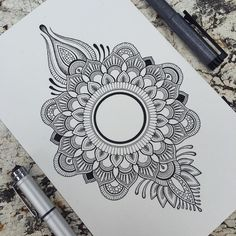 ⚪️ As i am currently rather busy with life stuff,i won't be able to take on any custom orders (or draw much in general) for a… Mandalas Painting, Mandala Drawing, Henna Mandala, Lotus Mandala, Mandala Pattern, Zentangle Patterns, Zentangles, Henna Designs, Tattoo Designs