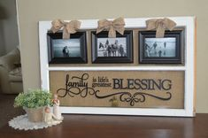 Antique window picture frame with vinyl by WritingOnTheWindow, $85.00