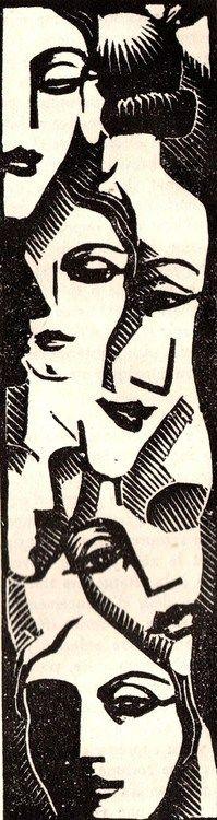 Paul Jacob-Hians for Clarisse Vernon of Gabriel Chevalier, 1938. S)