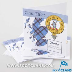 Elliot Clan Crest Cards