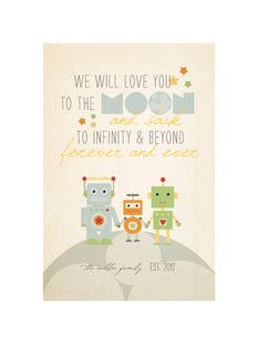 'Robot Family': Perfect for my daughter! we will love you to the moon and back to infinity and beyond forever and ever