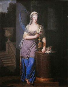 Portrait de Marie Antoinette d'Autriche, reine de France, vers 1790-91 François Dumont