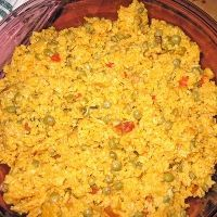 Puerto Rican rice This might not look like the best picture but Puerto Rican rice is delicious!
