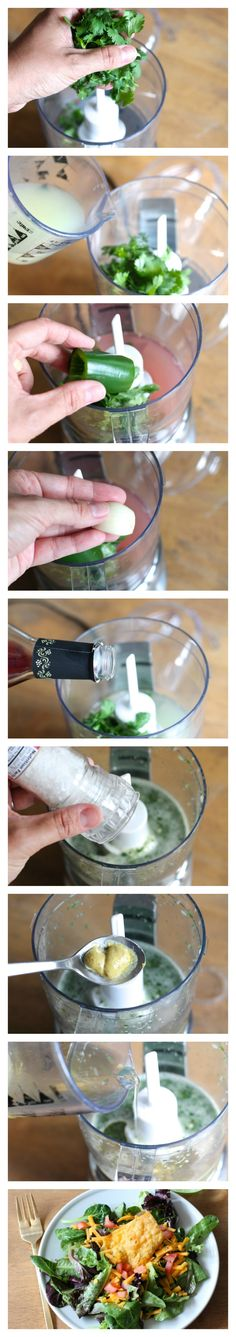 5 minute cilantro lime vinaigrette recipe - skinny salad dressing with a lot of flavor!