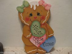 HP Gingerbread Hearts Valentines Candy Shelf Sitter